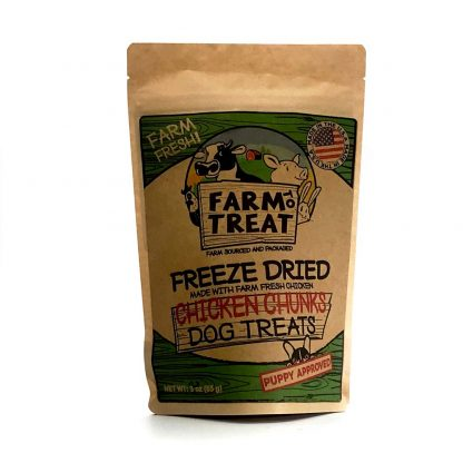 Farm To Treat Chicken Chunks Freeze Dried Dog Treats